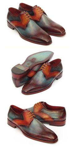 Dress shoes men - Paul Parkman Men's Multicolor Medallion Toe Derby Shoes – Dress shoes men Cheap Dress Shoes, Mens Casual Dress Shoes, Blue Dress Shoes, Men Dress, Men Casual, Mens Shoes Online, Peacoats, Simple Shoes, Stylish Mens Fashion