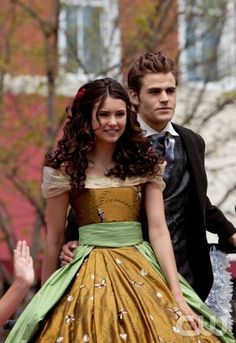 Founder's Day:The Mystic's Elena Gilbert & her Escort Stefan Salvatore