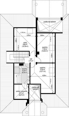 Projekt Dom na parkowej 7 B 151,65 m2 - koszt budowy 213 tys. zł - EXTRADOM Floor Plans, Homes, Floor Plan Drawing