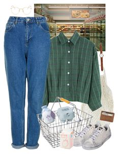 """errands"" by paper-freckles ❤ liked on Polyvore featuring Topshop, adidas, Maison Margiela, Ray-Ban, women's clothing, women's fashion, women, female, woman and misses"