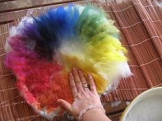 {how to} wet felting the color wheel with your first grader