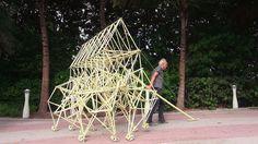 The Beach Walker via nytimes: Theo Jansen's strutting sculptures achieve astonishingly lifelike movement at Art Basel on Miami Beach. Theo Janssen, Worst Inventions, Kinetic Art, The Uncanny, Yesterday And Today, Basel, Ny Times, Sculpture Art, Art Photography