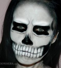 Lady Gaga Inspired Halloween Skull Makeup Tutorial   Fashionisers.