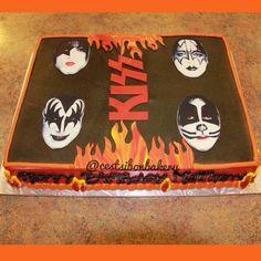 KISS band fan birthday cake