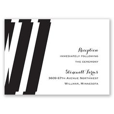 Treasured Jewels Stripes - Wedding Reception Card - Modern, Nautical at Invitations By David's Bridal