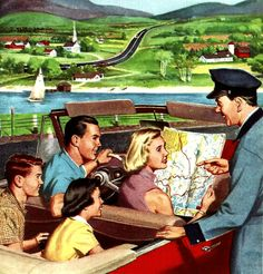 🌟Tante S!fr@ loves this📌🌟Esso road map ~ 1954 Vintage Pictures, Old Pictures, Vintage Images, Happy Pictures, Vintage Advertisements, Vintage Ads, Vintage Posters, Vintage Humor, Family Illustration