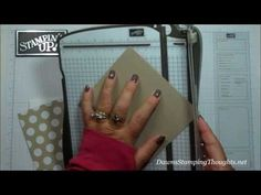 cardmaking video: Flap Fancy card with Dawn ... as always, a great tutorial for a great card! ... Stampin' Up!