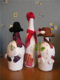 decoracion de botellas de vidrio para navidad pinterest - Buscar con Google