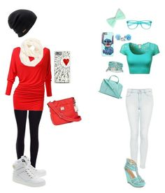 """""""Untitled #143"""" by batgirl-natasja on Polyvore featuring Topshop, Vera Bradley, Pinky, Accessorize, Moschino, Tyler Rodan, Coal, Echo, women's clothing and women's fashion"""