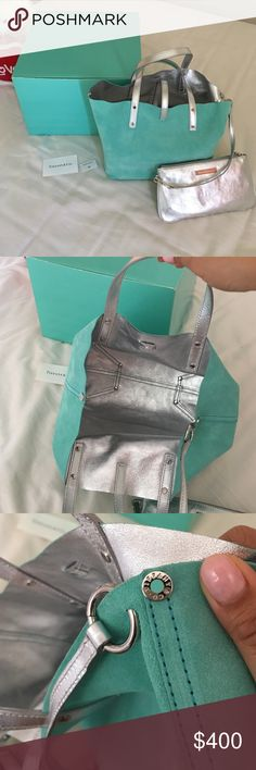 ONE DAY SALE Authentic Tiffany &Co reversible bag Still brand new. With box Tiffany & Co. Bags Shoulder Bags