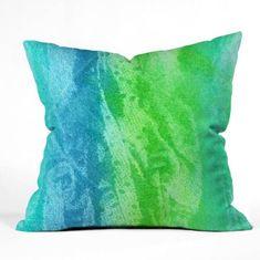DENY Designs Caribbean Sea by Laura Trevey Indoor/Outdoor Throw Pillow Size: Modern Throw Pillows, Outdoor Throw Pillows, Decorative Throw Pillows, Decor Pillows, Caribbean Homes, Caribbean Sea, Coastal Living, Coastal Decor, Decorative Pebbles