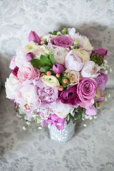 colored wedding bouquet