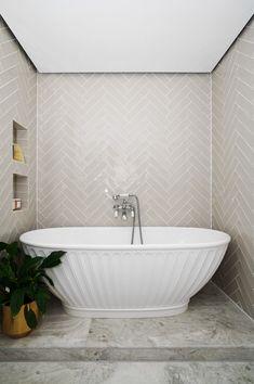 Timber Vanity, Wood Vanity, Bathroom Inspo, Bathroom Inspiration, Bathroom Goals, Bathroom Designs, Bathroom Ideas, Metro Tiles Bathroom, Wood Bathroom