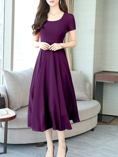 Winter Fashion Trends 2020 for Casual Outfits – Fashion Indian Gowns Dresses, 15 Dresses, Casual Dresses, Fashion Dresses, Purple Dress Casual, Chic Fall Fashion, Frocks For Girls, Sweet 16 Dresses, Dress Silhouette
