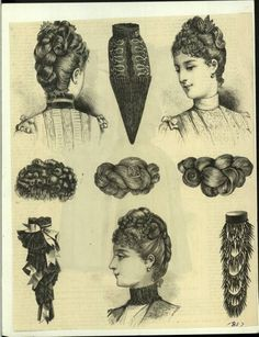 Bea Hair Women - 1887 Victorian Hairstyles, Retro Hairstyles, Easy Hairstyles, Hairdos, Victorian Women, Victorian Fashion, Costume Design Sketch, Historical Hairstyles, How To Draw Hair