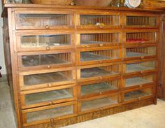 ❥ old glass drawer cabinet~ how awesome would this be for bead storage!
