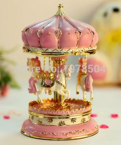 free shipping carousel Music Box at big size:Dia12*H19cm horse carousel music box,music box movements