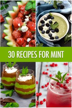 Hit refresh in the kitchen with 30 different recipes to use mint in your kitchen! Cooking Beets, Cooking Salmon, Real Food Recipes, Great Recipes, Delicious Recipes, Healthy Recipes, Mint Recipes, Happy Kitchen, Recipe 30