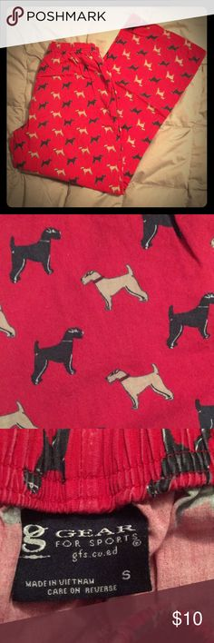 Men's Small Dog Print Pajama Bottoms These are an awesome pair of 100% cotton pj bottom. Very crisp and nice dog pattern. Other