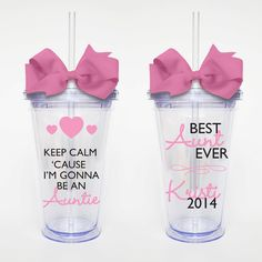 Keep Calm Auntie Acrylic Tumbler Personalized by SweetSipsters