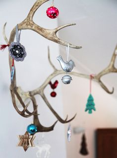 Antler ornaments for Christmas.