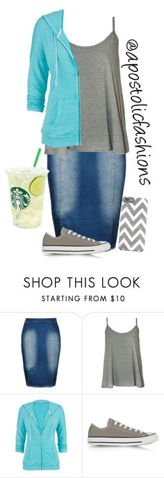 """""""Apostolic Fashions #1123"""" by apostolicfashions on Polyvore featuring City Chic, WearAll, maurices, Converse and plus size clothing"""