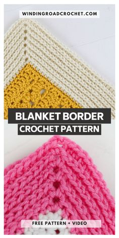Camel Stitch Blanket Border Tutorial - Winding Road Crochet - - The Camel Stitch blanket border will work for any blanket. Free crochet pattern and video tutorial for the knit like blanket border. Crochet Afghans, Crochet Borders For Blankets, Crochet Border Patterns, Crochet Blanket Border, Crochet Boarders, Knit Or Crochet, Learn To Crochet, Crochet Motif, Crochet Edgings