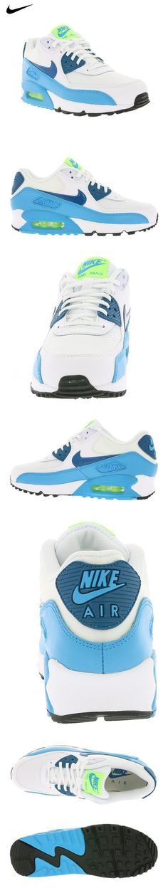 sale retailer 3be46 82d37 ...  104.99 - Nike Women s Wmns Air Max 90 Essential, WHITE GREEN ABYSS-BLUE  ...