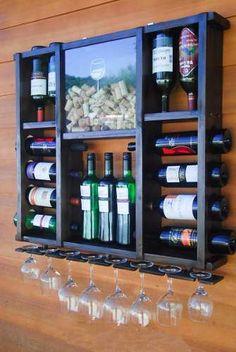 Adega De Madeira -vinhos E Porta Rolhas Luíd1®  - Promoção. - R$ 244,99