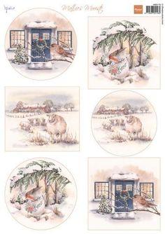 Marianne Design Bilderbogen , Mattie`s schönste Winter Christmas Sheets, 3d Christmas, Christmas Images, Xmas, Christmas Ideas, Image 3d, Marianne Design Cards, Decoupage Paper, Winter Cards