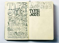 "Michael Hochleitner, co-founder of Typejockeys in Vienna, Austria has been an avid sketchbooker since he was a wee fourteen, when he started studying graphic design in Vienna. ""I knew I was supposed to have a sketchbook,"" he says, as though resigned to his fate.   From Typographic Sketchbooks"