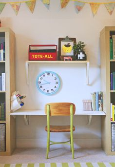 Little Boy's Playroom Makeover, inspired by vintage mid-century school house decor.