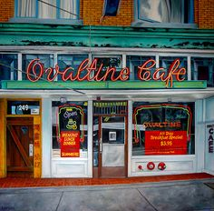 """Will Rafuse - OVALTINE CAFE, 2014; 48"""" x 48""""  Oil on canvas"""