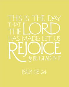 "Too often we repeat this word of the Lord with a heavy sighhhh...as though we're going, ""Okkkk....if I *have to...."" Seriously?? Rejoice! Be glad! Go ahead! Kick that spirit of heaviness to the curb! Dance! Sing! Rejoice! Be glad! What do you have to lose??"