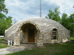 Image: Stoned and beautiful – Karen and Dan Tassell's Monolithic Dome home sits on six acres just outside of Magonolia, Texas.
