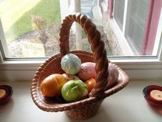 Vintage Egg and Easter Basket