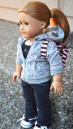 Steppin' Out In Style an American Girl Doll by KateLaurenDesigns, $60.00