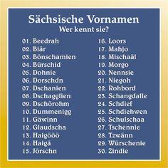 Wir haben für euch die beliebtesten sächsischen Vornamen auf eine Liste zusammengetragen...