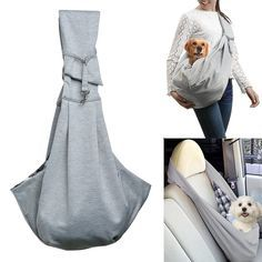 http://Amazon.com : OWNPETS Pet Sling Carrier Small Dog Cat Sling Pet Carrier Bag Safe, Comfortable, Reversible, Machine Washable, Double-sided Pouch Shoulder Carry Tote Handbag Small Pet Carrier for Pets below 6.6 LB : Pet Supplies