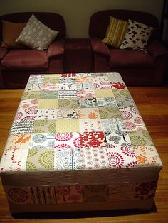 love this patchwork ottoman.