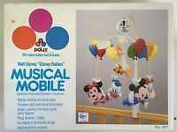vintage 1984 Walt Disney Babies mobile works complete in box Mickey Mouse Minnie
