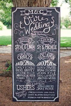 Wedding Chalkboard Program