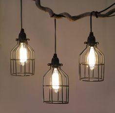 Tesla I Industrial Cage Pendant Lamp with Plug-in Cord - Ceiling Pendant Fixtures - Amazon.com