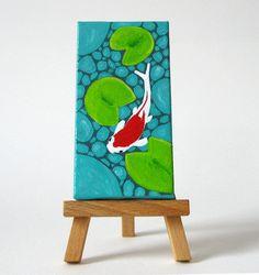 Acrylic Painting Koi Fish Pond