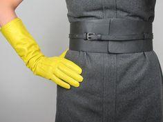 Taille ceinture Obi - deux noirs façon PU - large - simili cuir - femme - Multi Purpose - fait main