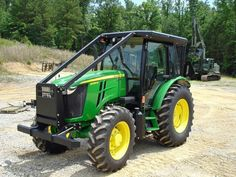 Brush guard cab tractor John Deere