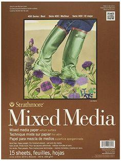 "Strathmore STR-462-111 15 Sheet No.140 Mixed Media Pad, 11 by 14"""