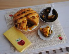 Miniature Fresh Baked Apple Pie 1/12 Scale by Anna Kerley