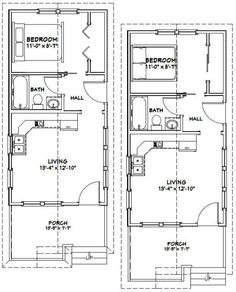 14x28 Tiny Homes PDF Floor Plans 391 sq by ExcellentFloorPlans