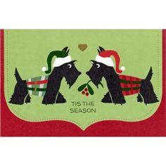 """Tis The Season"" Scottie Christmas Cards"